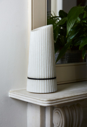 PLEAT White Vase
